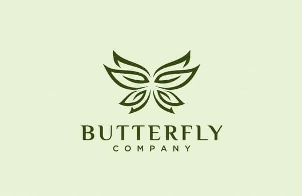 Ý tưởng sáng tạo logo thương hiệu mỹ phẩm Butterfly