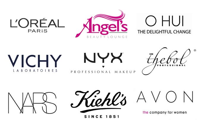 Logo thương hiệu mỹ phẩm dạng chữ