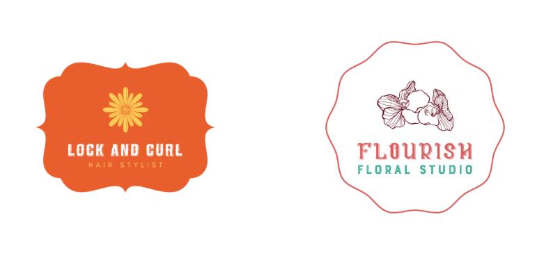 Logo dạng hoa cổ điển
