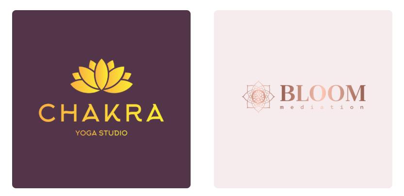 Logo hoa trừu tượng