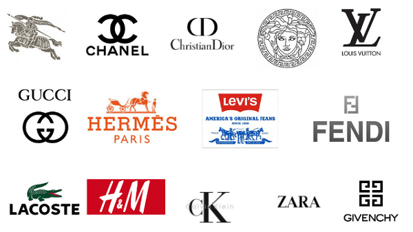 Logo thời trang tới từ các thương hiệu nổi tiếng trên thế giới (Ảnh: Sưu tầm)