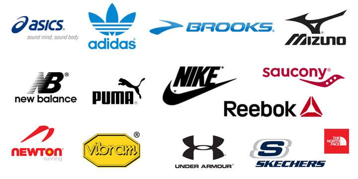Tổng hợp mẫu logo thương hiệu giày nổi tiếng trên thế giới (Ảnh: Sưu tầm)