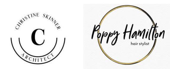 Logo tròn tối giản