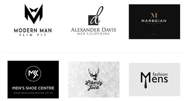 Mẫu logo thương hiệu thời trang nam (Ảnh: Sưu tầm)