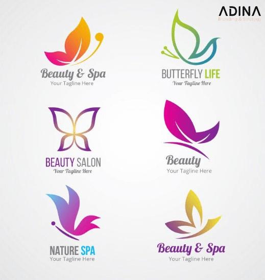 Một số mẫu logo spa hình cánh bướm