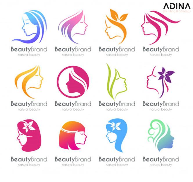 Thiết kế logo cách điệu hình cô gái