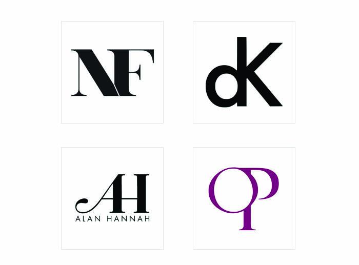 Thiết kế logo chữ bằng cách ghép các nét dọc