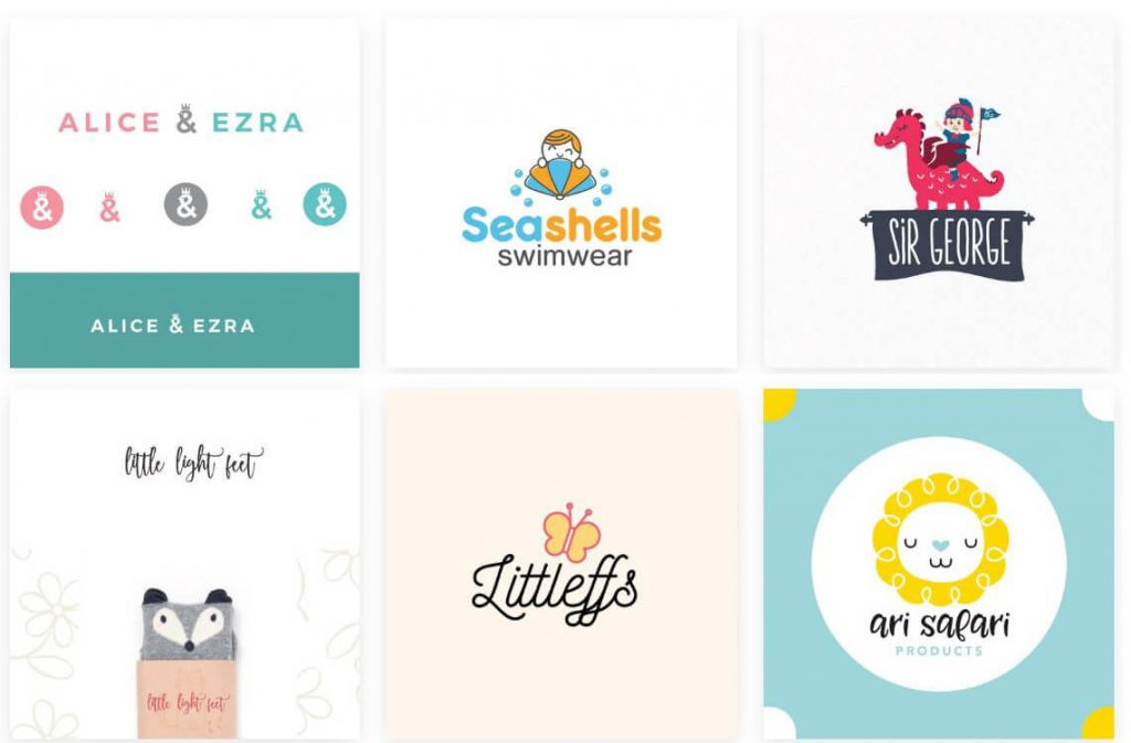 Thiết kế logo thời trang trẻ em (Ảnh: Sưu tầm)