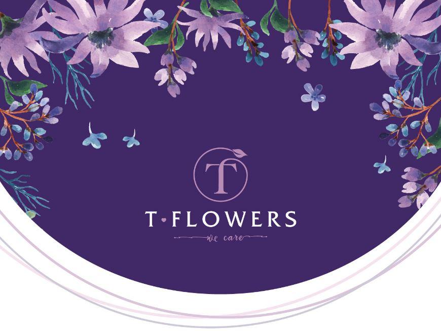 Thiết kế logo T-flower