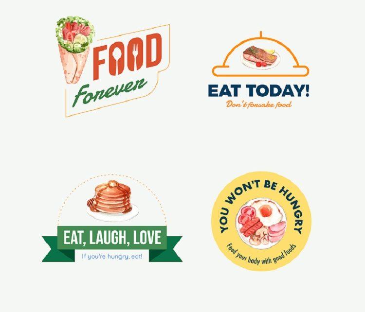 Mẫu logo đồ ăn