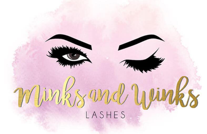 Logo Minks and Winks Lashes của Evoke.design