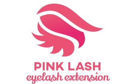 Mẫu logo Pink Eyelash Beauty