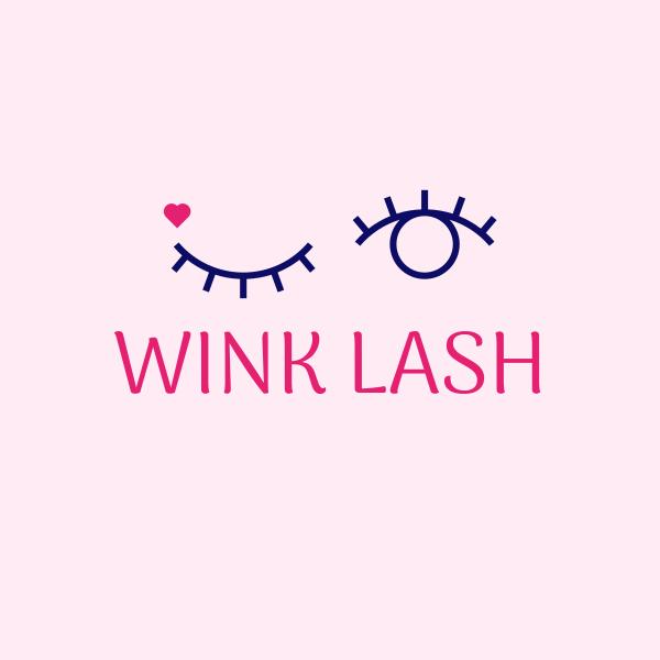 Mẫu logo Wink Heart Eyes & Lashes của DanikBrt
