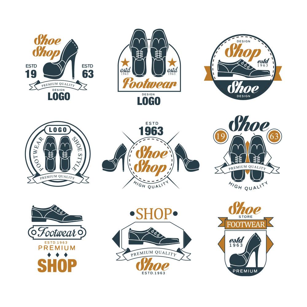 Mẫu thiết kế logo shop giày sáng tạo, chuẩn nhận diện