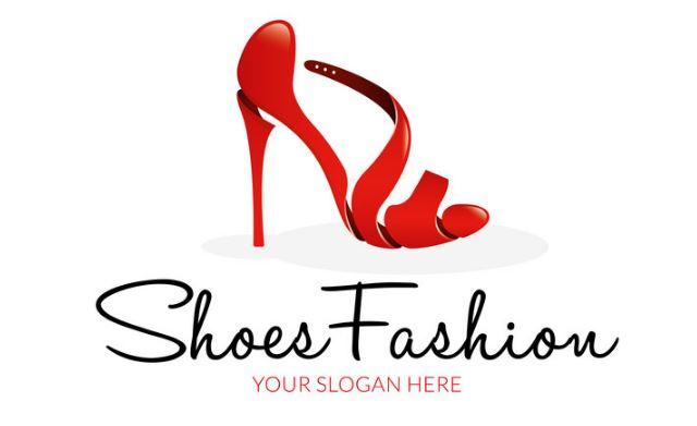 Logo shop giày cao gót màu đỏ