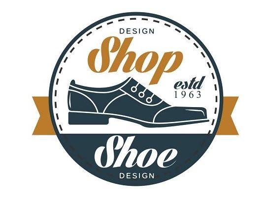 Logo shop giày hình tròn
