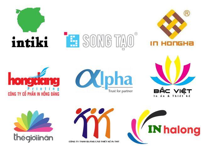 Ý tưởng sáng tạo logo in ấn dạng biểu tượng