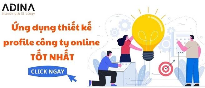 Ứng dụng thiết kế profile công ty online tốt nhất
