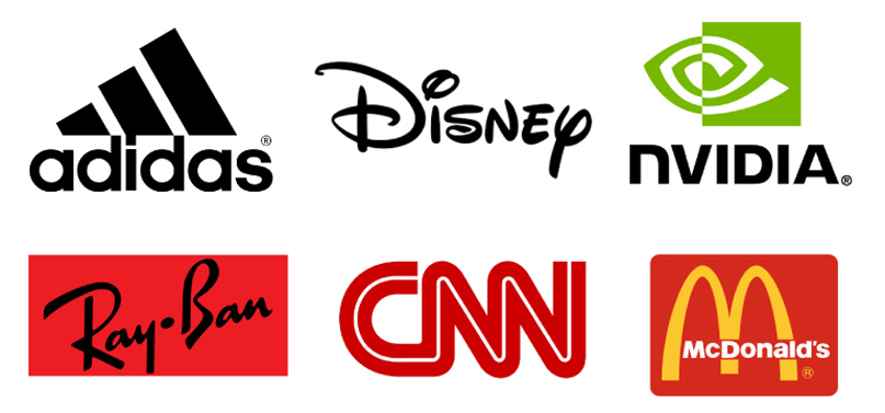 Hình khối tự do trong thiết kế logo