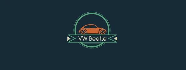 Thiết kế logo club xe hơi VW Beetle