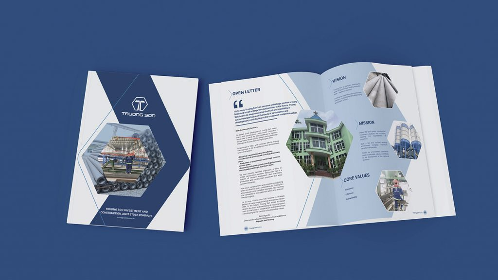 Mẫu thiết kế hồ sơ năng lực công ty cổ phần xây lắp Trường Sơn