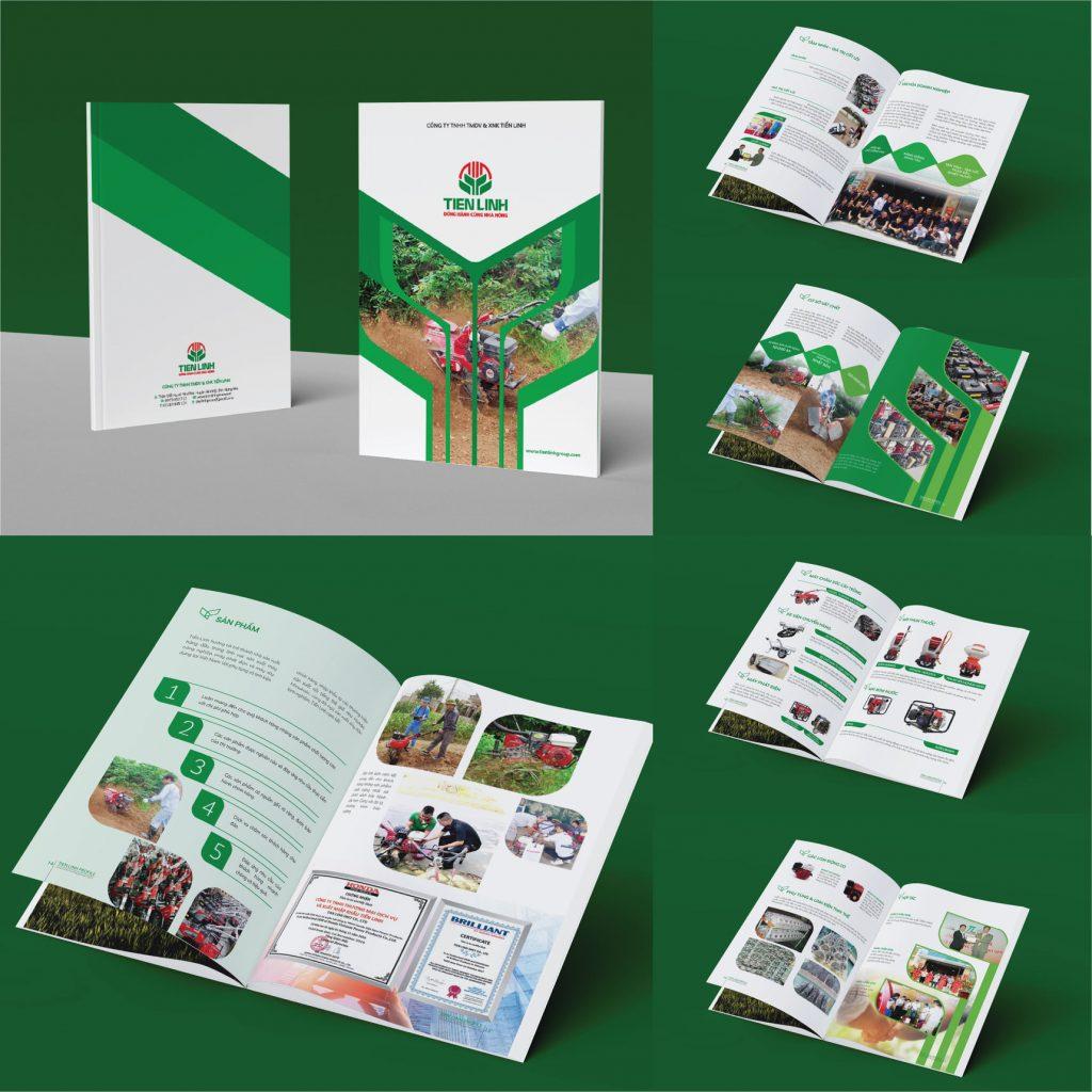 Thiết kế hồ sơ năng lực công ty máy móc nông nghiệp Tiến Linh