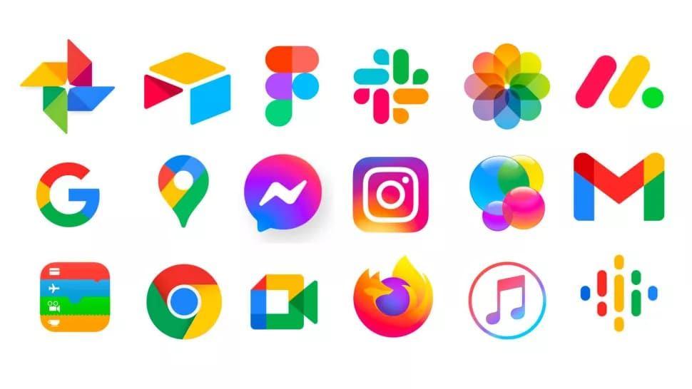 Thiết kế logo nhận diện thương hiệu đa sắc màu