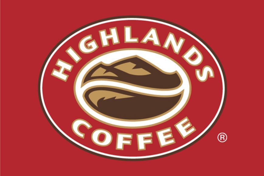 Logo Highlands Coffee chuẩn nhận diện, đơn giản