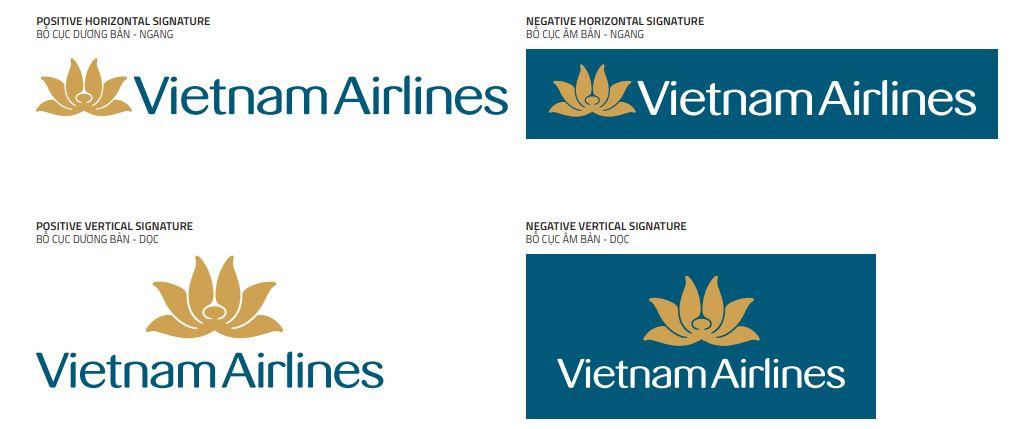 Logo Vietnam Airlines theo từng dạng khác nhau